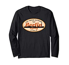 Official Berlin City Souvenir T-shirt as Souvenir of your European travel to Germany. You, your friends or family want to go to the capital of Germany, Berlin? Sounds like you need to purchase this cool real Berlin shirt on the day of your ar...
