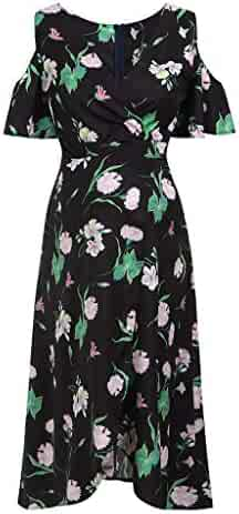4b64a65c7e3bf EDTO Maternity Nightdress, Floral Print Shortsleeved Dress Beach Pregnant  Women