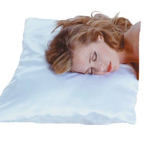 Satin Dain Betty Pillowcase (Betty Dain Sleepwear Satin Pillow Case, White, King Size (Pack of 3))