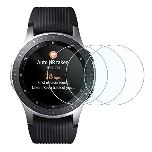 Tempered Glass Screen Protector for New Samsung Galaxy Smart Watch 2018,Anti-Scratch Bubble Free Accessories Protector for Samsung Galaxy 46mm - 3 Packs
