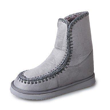 Desy de zapatos de mujer sintética botas de invierno botas de nieve plana talón ronda Toe para Casual rubor rosa marrón gris negro gris