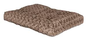 "MidWest Quiet Time Pet Bed Deluxe Mocha Ombre Swirl 35"" x 23"""