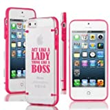 "Apple iPhone 6 Plus (5.5"") Ultra Thin Transparent Clear Hard TPU Case Cover Act Like A Lady Think Like A Boss (Hot Pink)"