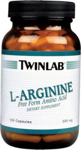 Twinlab L-Arginine 500mg, 100 Capsules (pack de 3)