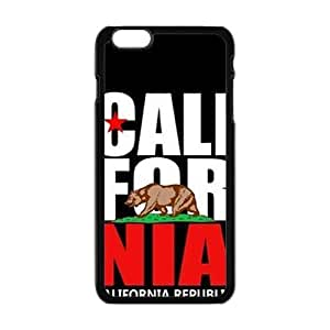 Cool Painting california republic t shirt Phone Case for Iphone 6 Plus