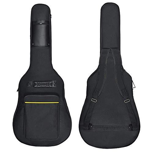 41 Inch Acoustic Guitar Case Acoustic Guitar Big Bag Waterproof Dual Adjustable Shoulder Strap Guitar Soft Case - Black