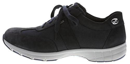 Gabor Kvinder 74355, Kvinder Kiler Sneaker, Sneaker Wedges, Kile Hæl, Halv Sko, Sport Sko, Snøre, Lav-top, Blok Hæl 1,5 Cm, Indersål, Bred (normal) Blå