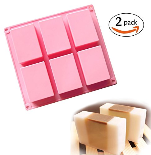 6-Cavity Rectangle Soap Silicone Mould Tray - 6