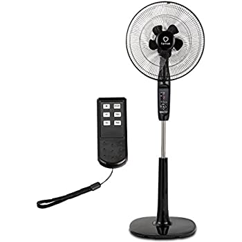 COSTWAY Pedestal Fan Oscillating Stand Fan Adjustable Whisper Quiet Cooling Fan for Home and Office with Remote Control, Dual 5 Blades, 15 Hours Timer ...