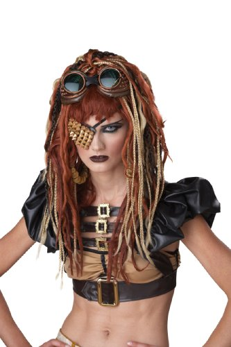 California Costumes Brown Apocalypse Dreads Wig, Brown/Blonde/Red, One Size (Women Scary Costume)