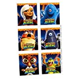 Monsters vs Aliens Stickers 4 Sheets
