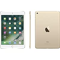 Apple iPad Mini 4 with 7.9 Retina Display, 128GB SSD, 2GB RAM, Dual-Core A8 Chip, Quad-Core Graphics, Wi-Fi, MIMO, Bluetooth, Apple iOS 9, Gold