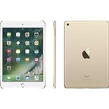 "Apple iPad Mini 4 with 7.9"" Retina Display, 128GB SSD, 2GB RAM, Dual-Core A8 Chip, Quad-Core Graphics, Wi-Fi, MIMO, Bluetooth, Apple iOS 9, Gold"