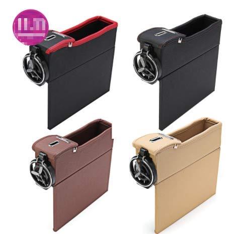 Hitommy - Bolsa de almacenamiento para asiento de coche (piel), Cream Color (Right)