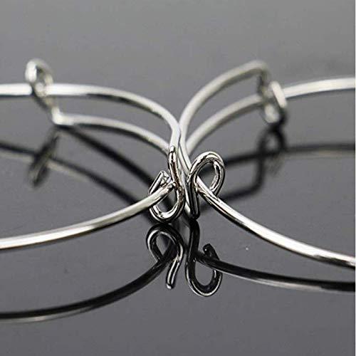 Adjustable Wire Blank Bracelets for Women Jewelry DIY Making Gold /& Silver Minelife 50 Pcs Expandable Bangle Bracelet