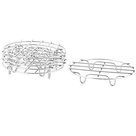 Amazon.com: eDealMax cocina de acero inoxidable Pan soporte de producto a vapor de calefacción estante del soporte Dia 15cm 6pcs: Kitchen & Dining