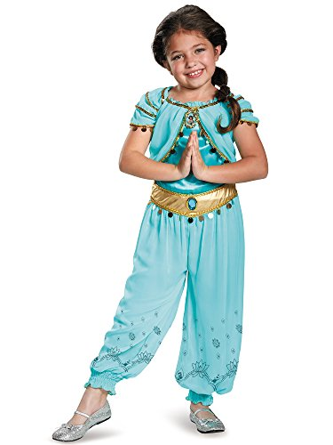 Jasmine Prestige Disney Princess Aladdin Costume, Medium/7-8]()