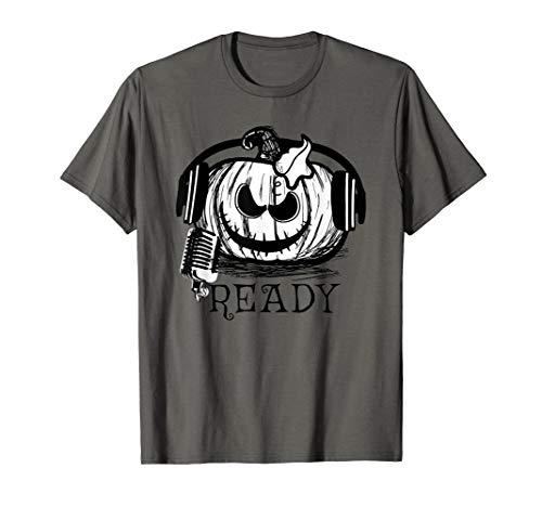Halloween Pumpkin DJ T Shirt , Music Lovers Halloween Costum