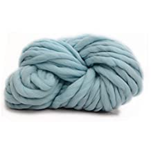Oak-Pine 250g Thick Acrylic Yarn Ball Cosy Smooth Knitting Wool for Hand-knitted Works Crochet Crafts Such as Snood Sweater Scarf Pet Bed Blanket, 45 Meters of Yarn, Large Variety of Colors as Shown