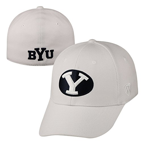 Top of the World BYU Cougars Official NCAA One Fit Premium Cuff Hat Cap 262352