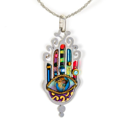 Seeka Large, Elegant Hamsa Necklace to Protect from the Evil Eye from The Artazia Collection (Large Hamsa Necklace)