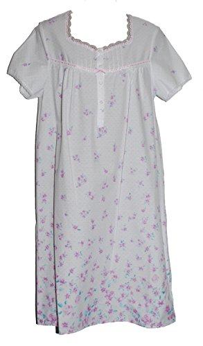Ladies célèbre marque à manches courtes en polycoton de nuit à court ou l'ampleur Rose/motif Floral/Print. Tailles 36–38, 40–42/44–46/48/50 52–54