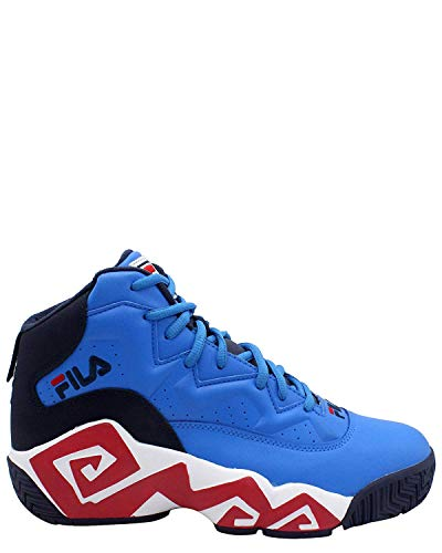 Fila Men's MB Hightop Basketball Shoes (10 M US, Blue/White/Navy)