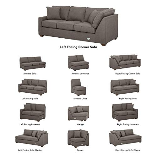 Stone & Beam Bagley Sectional Component, Left-Facing Corner Sofa, Fabric, 90