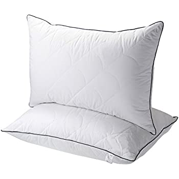 Pillows for Sleeping, Registered with FDA Down Alternative Bed Pillow 2  Pack, Super Soft