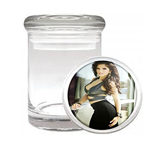 """Medical Glass Stash Jar Ohio Pin Up Girls Model S1 Air Tight Lid 3"""" x 2"""" Small Storage Herbs & Spices"""