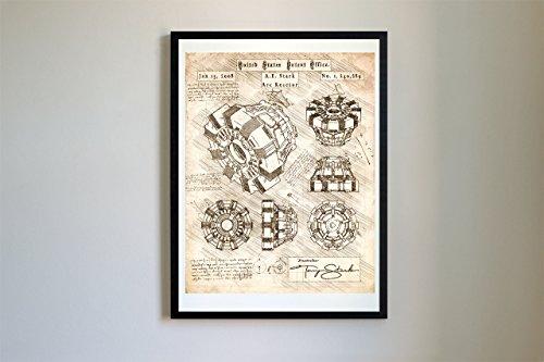Iron Man Arc Reactor Patent Art #114 - Da Vinci Patent Prints, Poster, Artwork (8x10, Vintage)