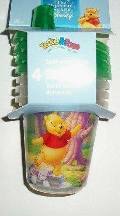 Disney Winnie the Pooh W/ Piglet & Tigger Green Take & Toss Set of 3 - 10 oz. Sippy Cups