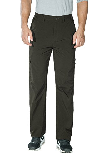 """Nonwe Men's Outdoor Quick Dry Cargo Trousers Green XL/32""""..."""