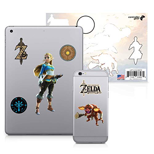 Controller Gear The Legend of Zelda: Breath of the Wild – Character Tech Decal Pack – Princess Zelda – Nintendo Wii; GameCube