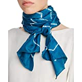 Eileen Fisher Womens Silk Printed Decorative Scarf