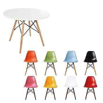 rund wei tisch mit wahl der stuhl farben mix - Stuhlfarben