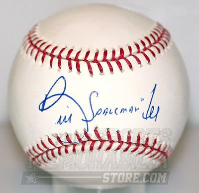Lee Signed Baseball - Bill Lee Red Sox Expos signed baseball