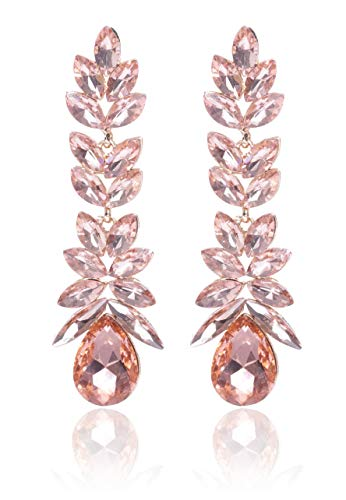 YouBella Valentine Collection Metal Gold Plated and Swiss Zircon Earrings for Women & Girls