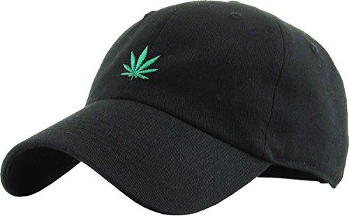 b0949e93f79 Editorial Pick KBSV-064 BLK Marijuana Leaf Dad Hat Baseball Cap Polo Style
