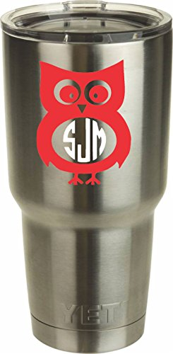 Owl Monogram DECAL ONLY Tumbler product image