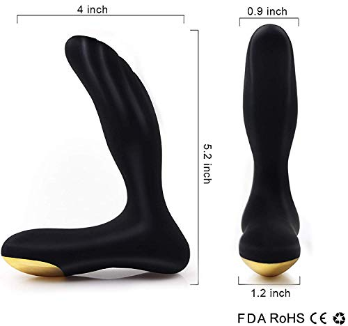 PALOQUETH Male Vibrating Prostate Massager Sex Toy with 2 Powerful Motors & 10 Stimulation Patterns for Wireless Remote Control Anal Pleasure, Unisex G Spot Vibrator Anal Sex Toy