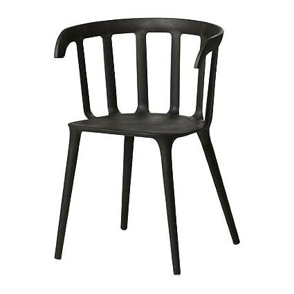 Fabulous Amazon Com Ikea Armchair Black 1626 22026 218 Kitchen Spiritservingveterans Wood Chair Design Ideas Spiritservingveteransorg