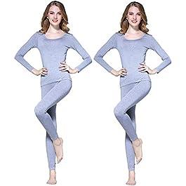 Vinconie Women Thermal Underwear Set Base Layer Top & Leggings
