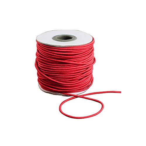 ARRICRAFT 1 Roll 40m/roll 2mm Round Elastic Cord Flexible Thread for Necklace Bracelet Beading Making, with Nylon Outside and Rubber Inside