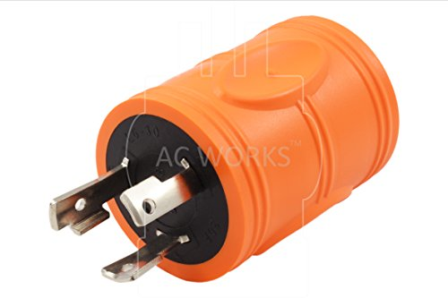 AC WORKS [ADL630L1430] Locking Adapter L6-30P 30Amp 250Volt Locking Plug to 4-Prong 30Amp L14-30R Adapter by AC WORKS (Image #2)