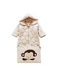 Rancco? Extra Thick Toddler Sleep Sack Sleeping Bag, Removable Wearable Long Sleeves Infant Baby Sleeping Nest Rack Bag Swaddling(Large)