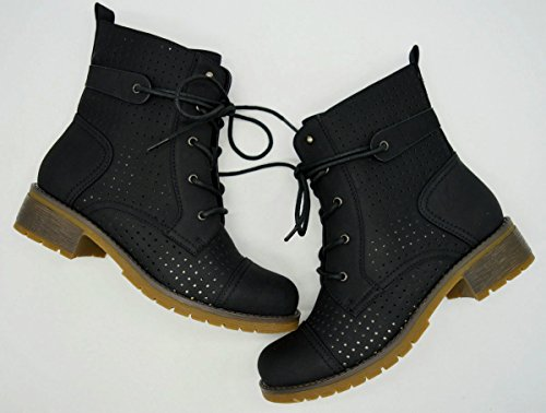 Todd 3 Womens Chic Low Heel Lace Up High Causal Riding Ankle Booties Ankle Bootie