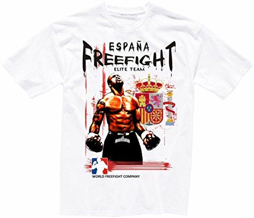 Spanien FREEFIGHT - MMA - Muay Thai Boxen - T-Shirt - 001