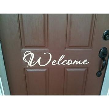 Front door Welcome