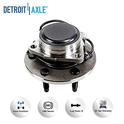 Detroit Axle - Front Driver and Passenger Side Wheel Hub and Bearing Assembly - RWD Models Only: Automotive